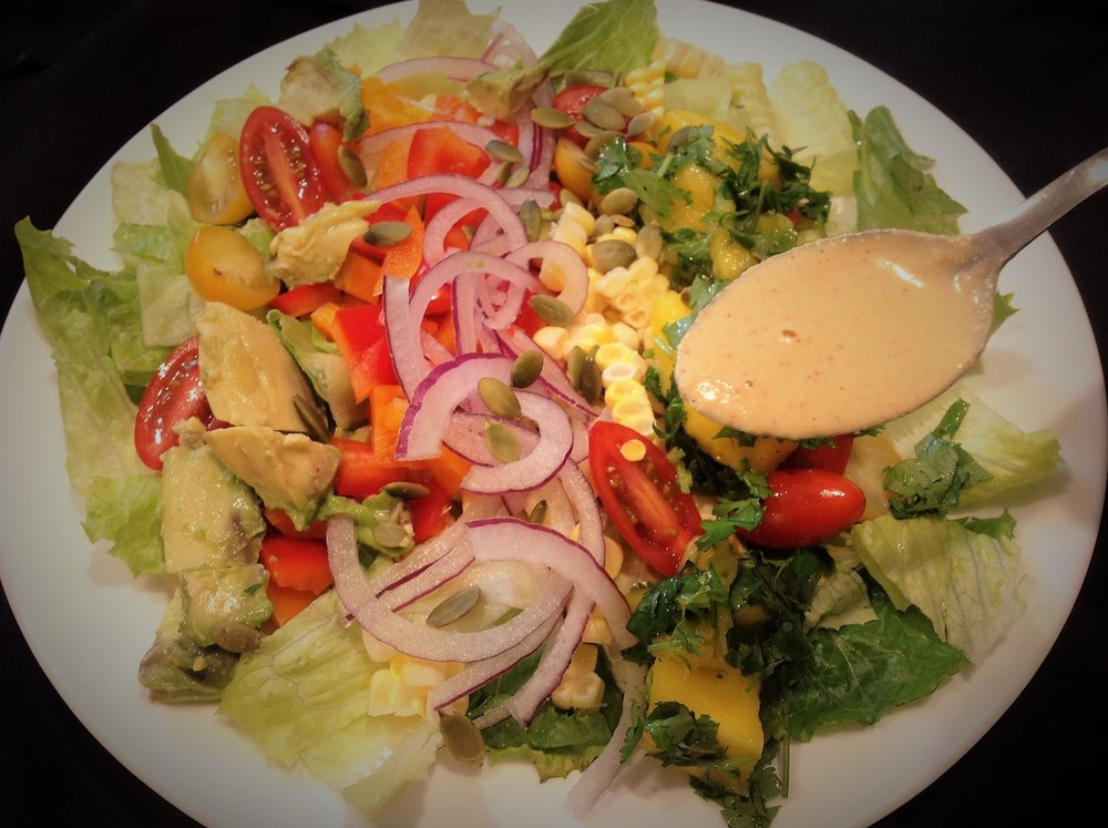 Chipotle Cashew Dressing - Healthy, Vegan, Oil-Free, Gluten-Free, Plant-Based Spicy Recipe with Mexican Smoky Flavor