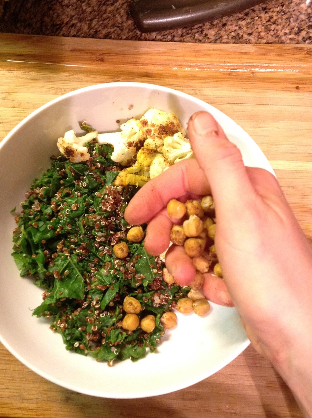 Chef's Tip:  Put these crunchy chickpeas over salads or grain bowls.  They can replace croutons for a healthy, oil-free, gluten-free, vegan options