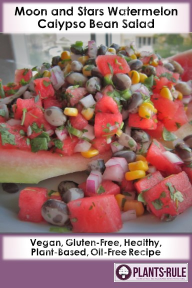 Moon and Stars Watermelon Calypso Bean Salad