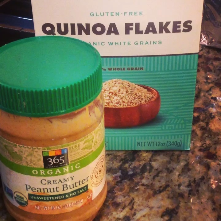 Chef's Plant-Based Tip:  Healthy Quinoa Flakes are naturally gluten-free and loaded with protein and fiber.  Peanut butter adds rich, creamy flavor for these vegan cookies