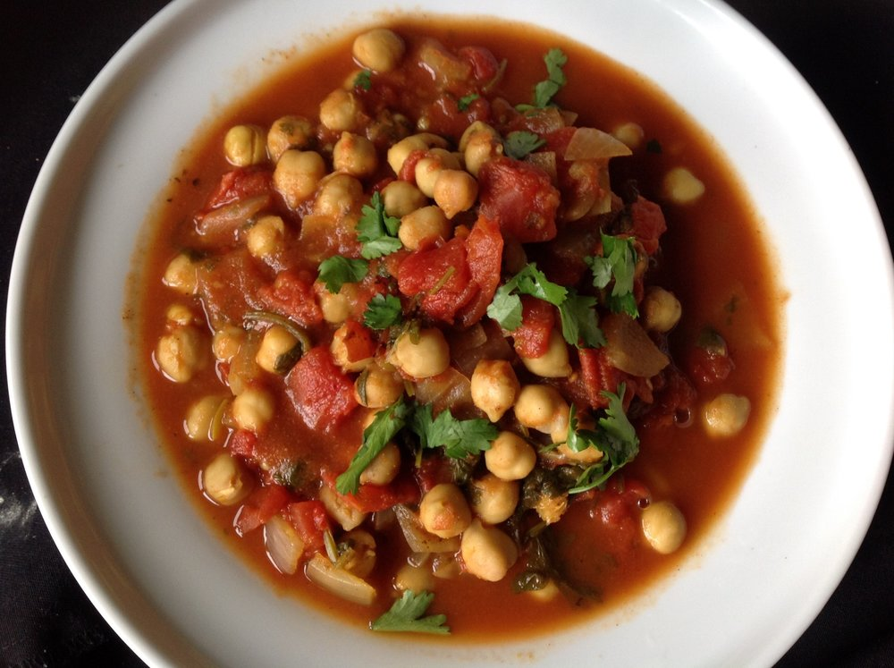 Indian Easy Chickpea Chana Masala Stew - Healthy, Plant-Based, Oil-Free, Vegan, Gluten-Free Vegetarian Comfort Food Hearty Dinner Recipe