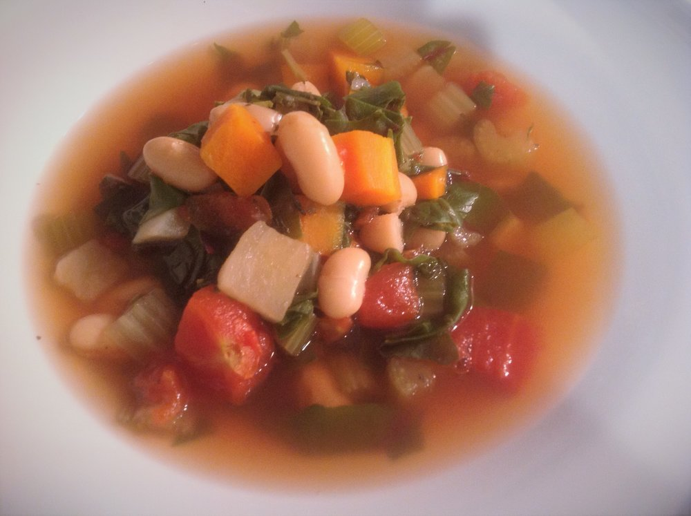 Instapot Hearty Vegetable Bean Soup - Healthy, Plant-Based, Gluten-Free, Oil-Free, Easy Vegan Recipe