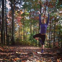 Truth: I fell 3 times before finally letting go and relaxing into this Smoky Mountain Tree Pose