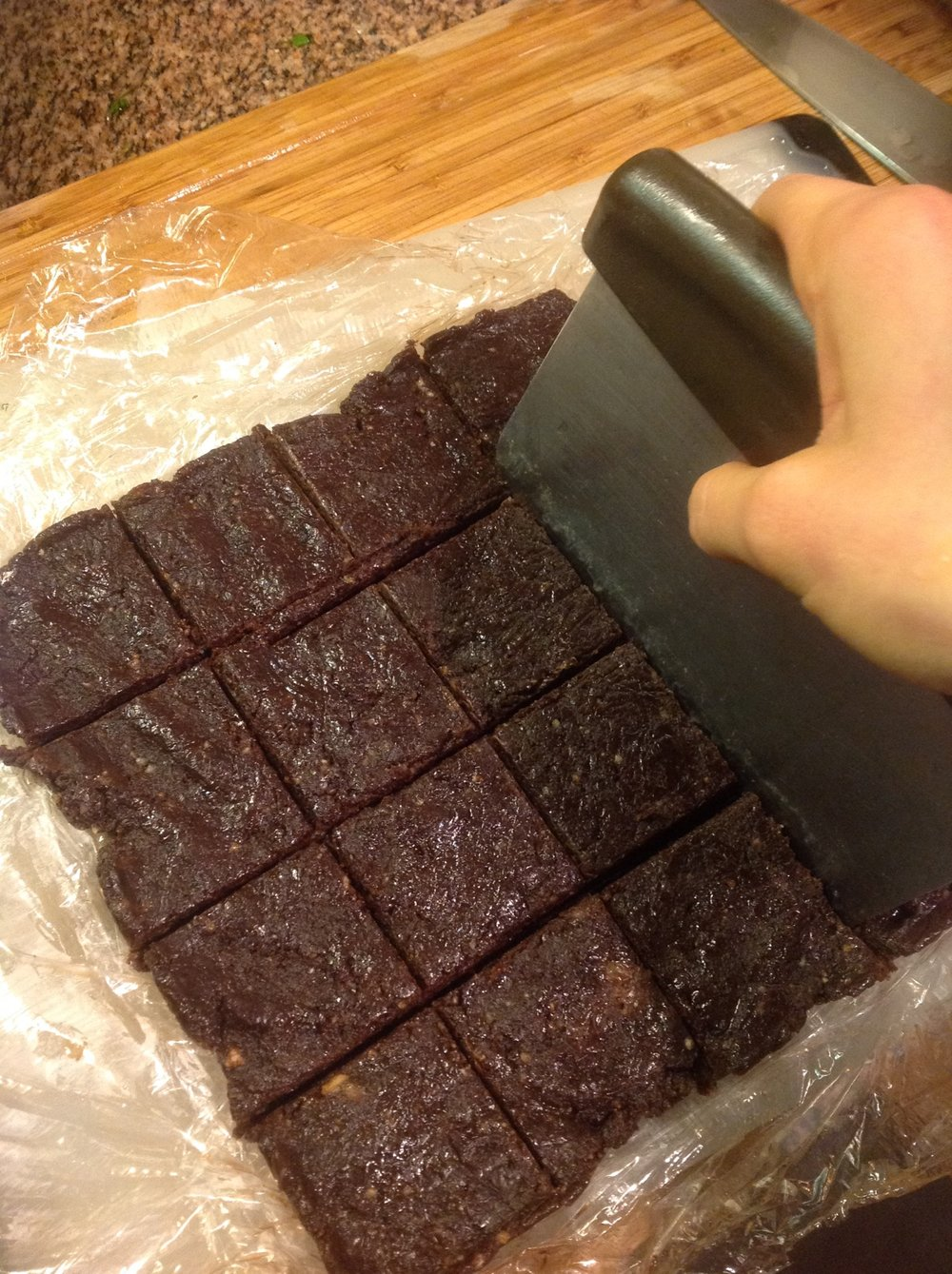 Chef's Tool Tip:   A bench scrape (aka pastry scrape) makes it easy to portion and cut these bars once they've set.  This small gadget is essential for easy, quick cooking