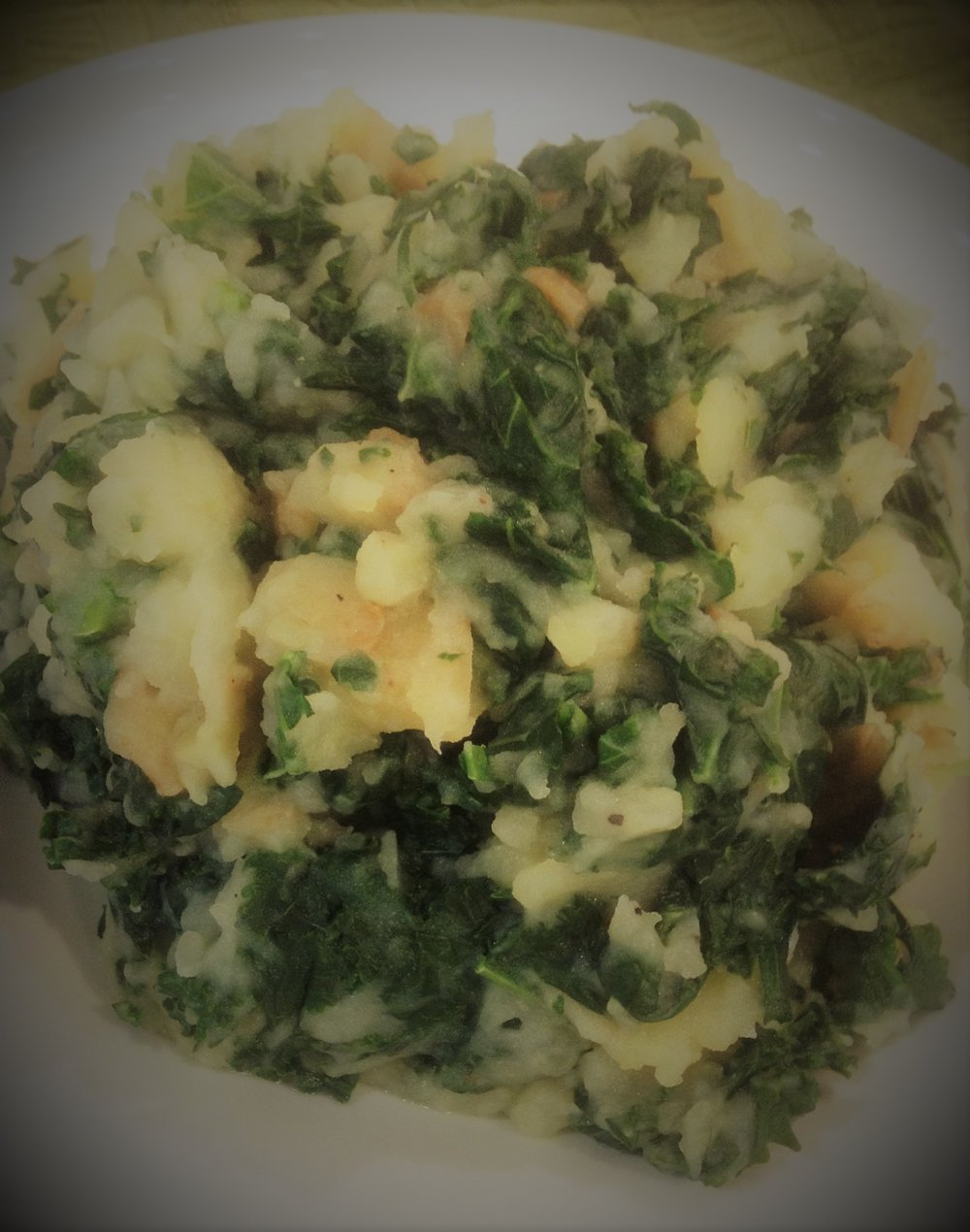Irish Potato Kale Colcannon - Healthy, Plant-Based, Oil-Free, Gluten-Free, Easy Vegan Recipe