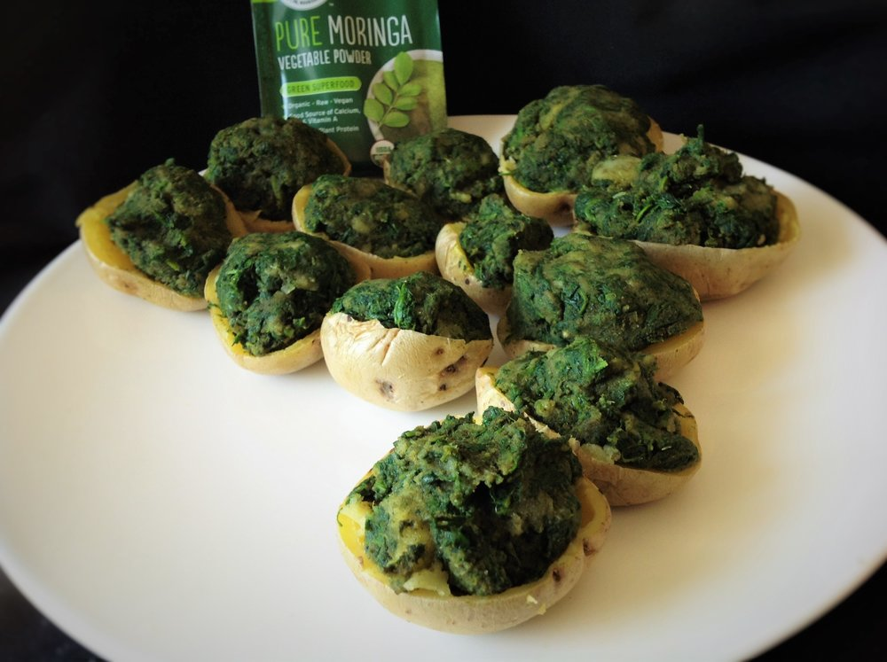 Quick Luck-of-the-Irish Green Potato Bites with Moringa