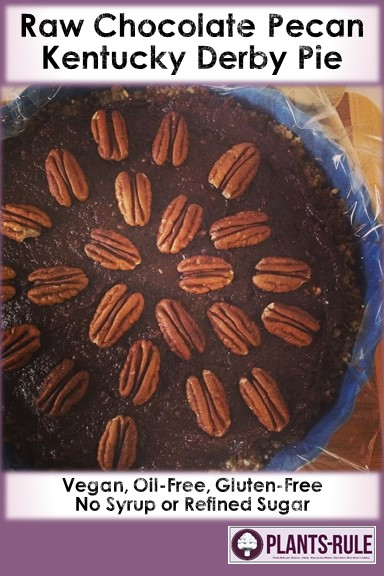 Raw Chocolate Pecan Kentucky Derby Pie Pin