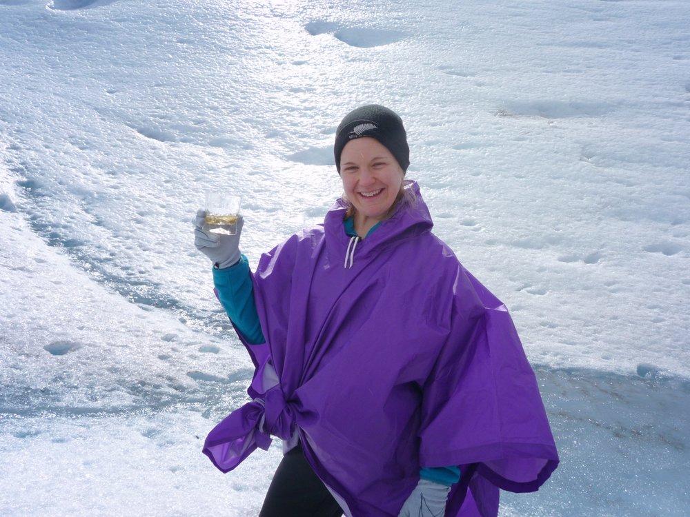 Katie Simmons at Argentina's Perito Moreno Glacier