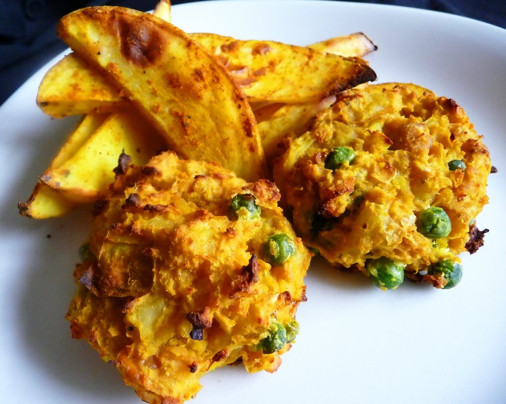 Indian Curry Baked Samosa Cakes