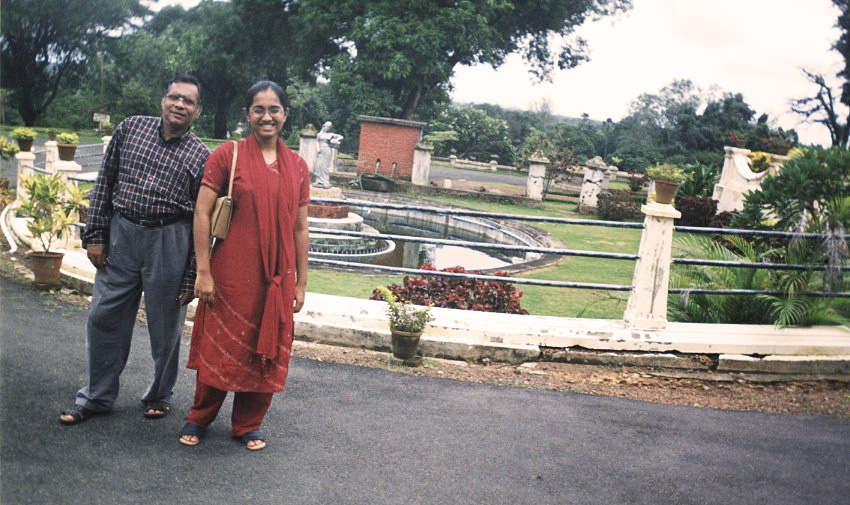 My dad and I exploring the palaces of Trivandrum, India.