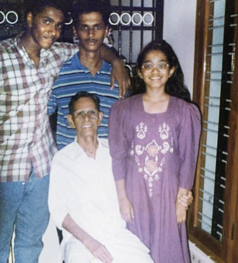 Dorkiest picture I can find of myself with my brothers and my late grandfather on one of our visits to India. Those glasses!
