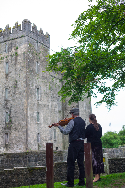 Irish strings and ballads at Bunratty Castle.