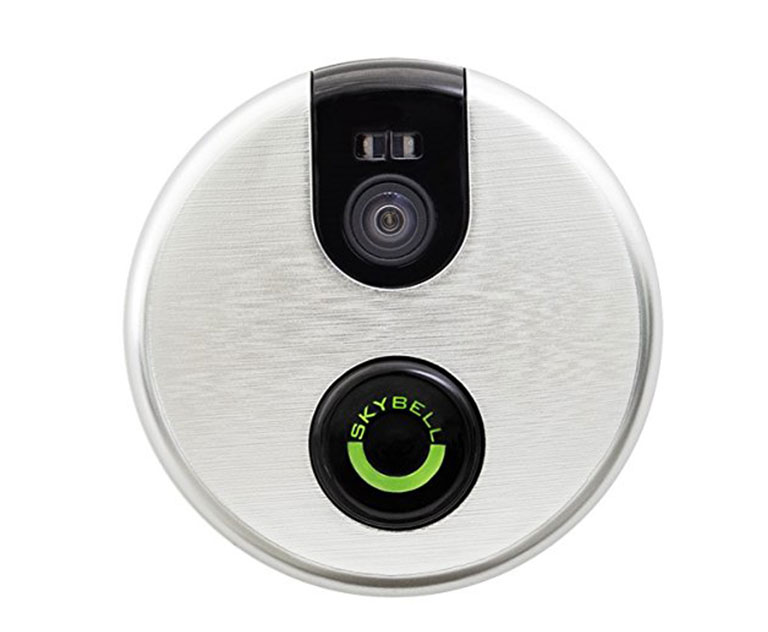 Skybell    SkyBell is a Wi-Fi-enabed smart doorbell that allows you to see who is at your door no matter where you are or what you're doing.