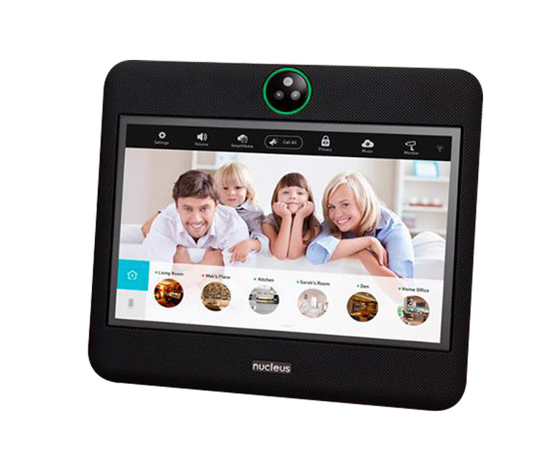 Nucleus Intercom System    Communicate instantly room to room with audio and video calls. Wireless and WiFi-powered, Nucleus installs in minutes and integrates into your home seamlessly.