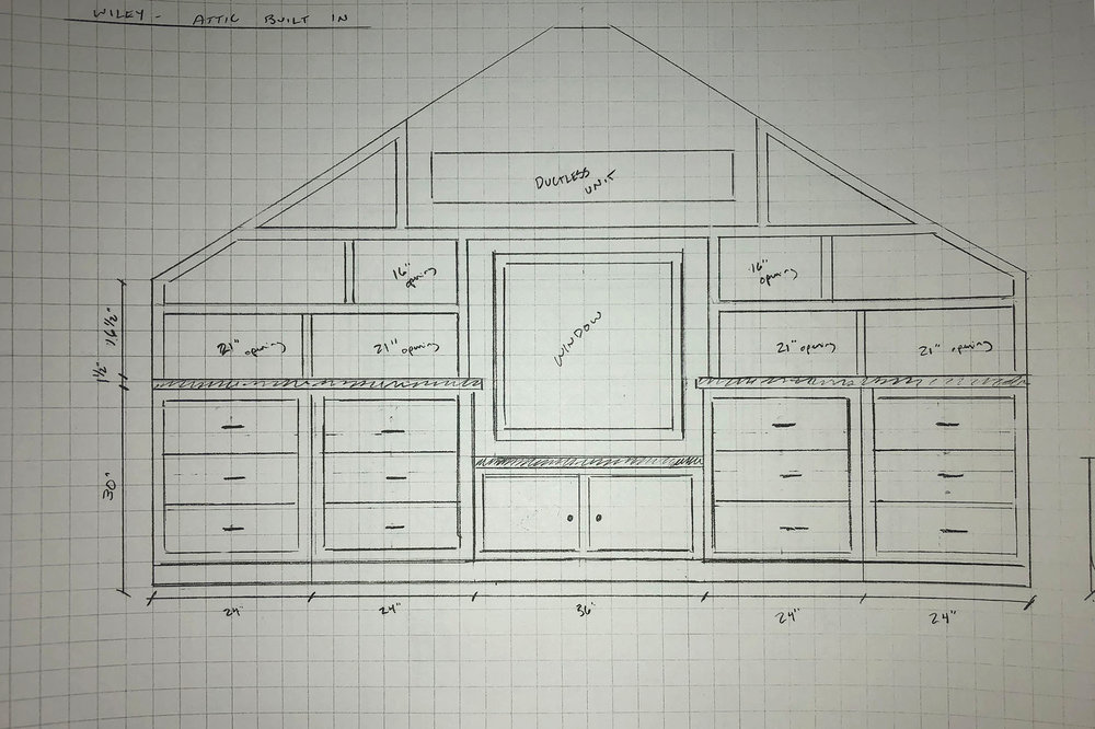 Sketch of the remodel