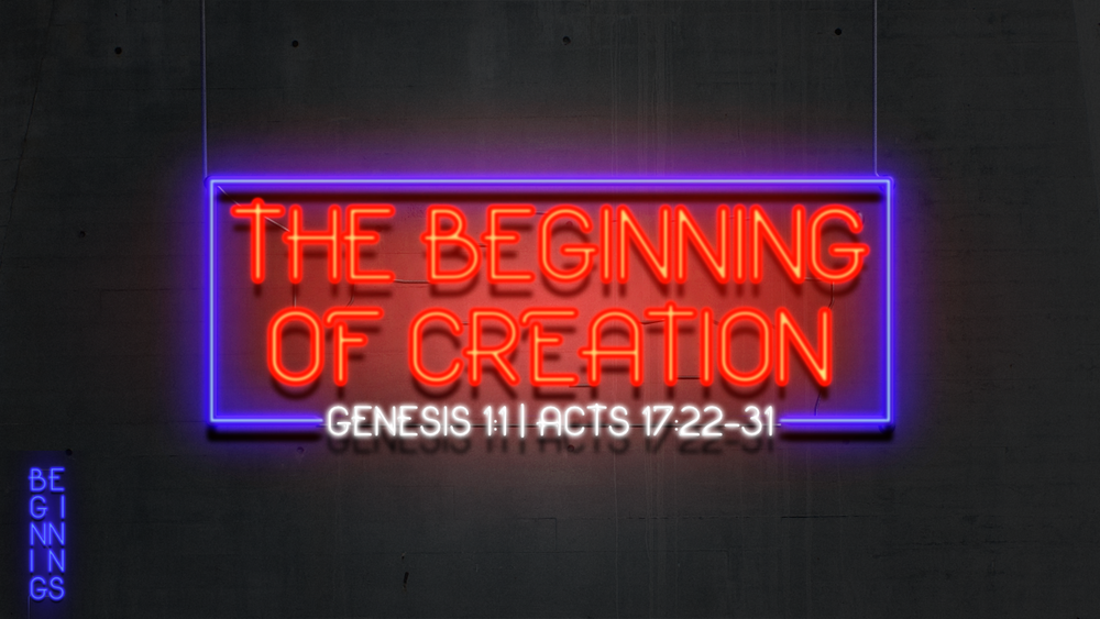 1. The Beginning of Creation - Justin Marbury | January 7th, 2018