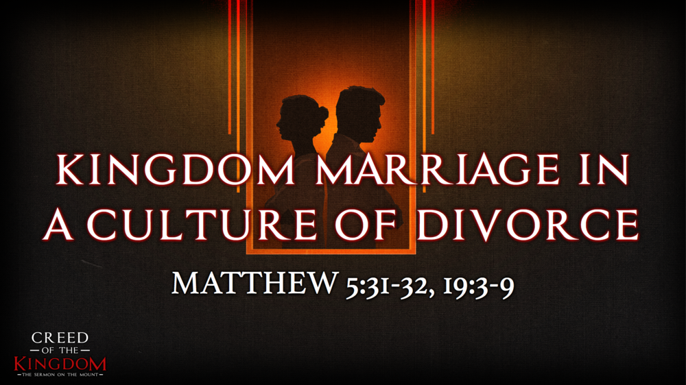 7. Kingdom Marriage in a Culture of Divorce - Justin Marbury | July 16th, 2017