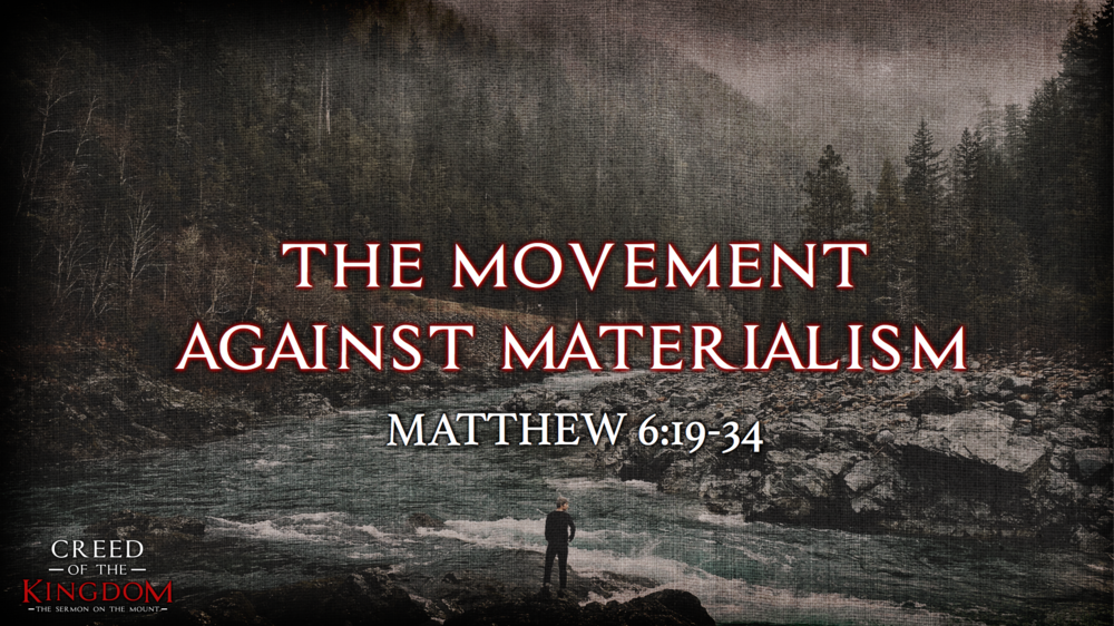 11. The Movement Against Materialism - Justin Marbury | August 20th, 2017