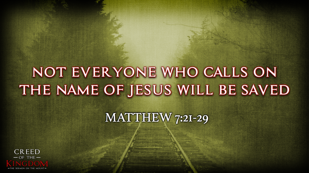 16. Not Everyone Who Calls on the Name of Jesus Will be Saved - Justin Marbury | September 24th, 2017