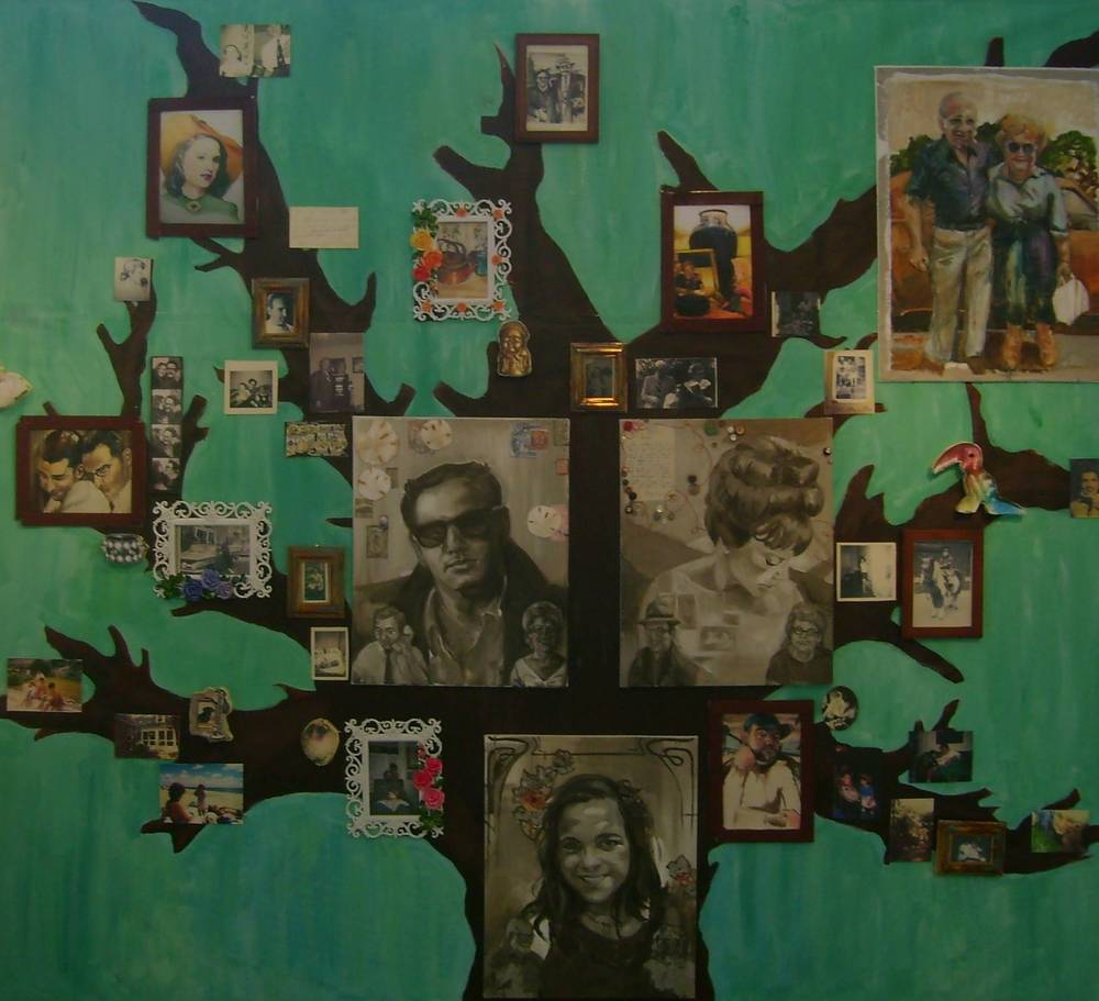 """Family Tree"" by Hillary Broder, exhibited in 2009 Adelphi University Masters Student Exhibition"