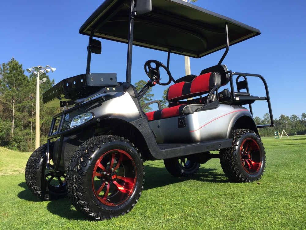 Custom Built Golf Carts, Golf Cart Repair and Upgrades on golf cart graphics, golf cart flame paint, golf cart paint colors,