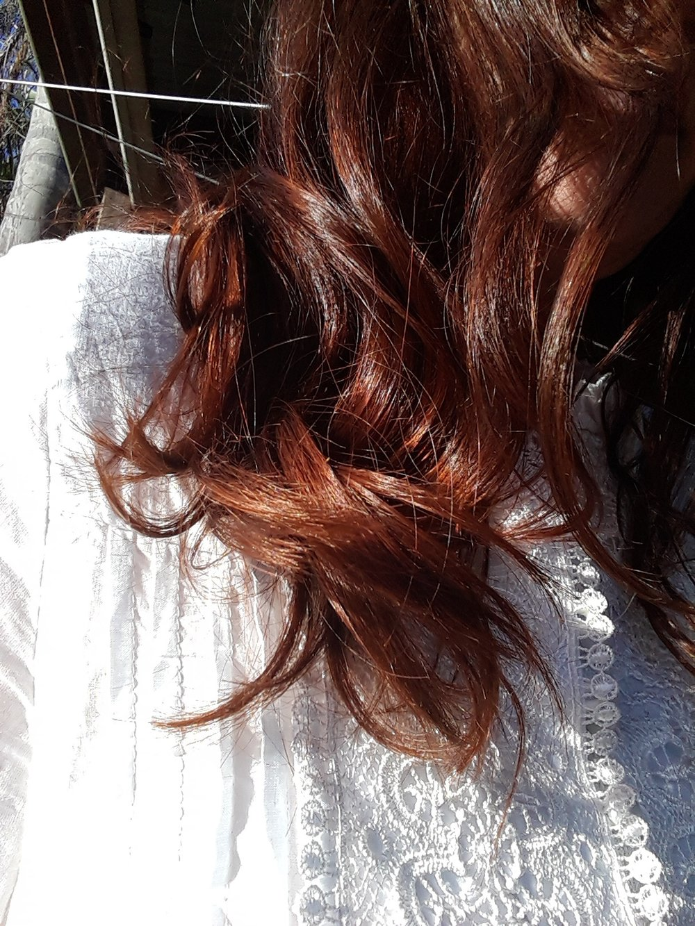 My healthy Henna'd Red-Copper hair July 2018 -