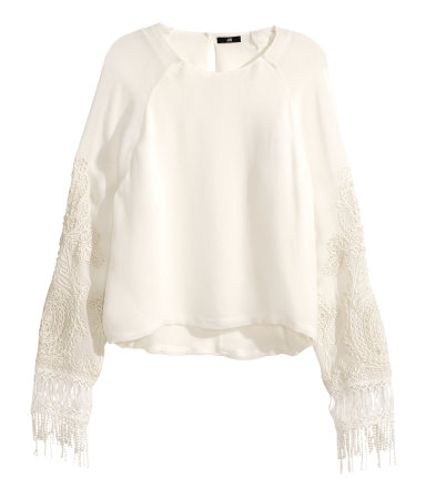 H&M Embroidered Top $49.95