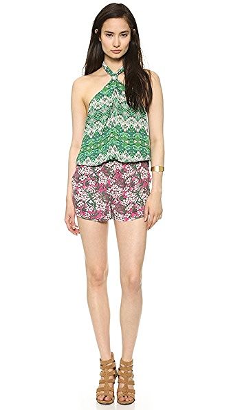 BCBG MAXAZRIA Casli Romper, $198, is perfect for camouflaging any bumps or lumps no one else should know about!