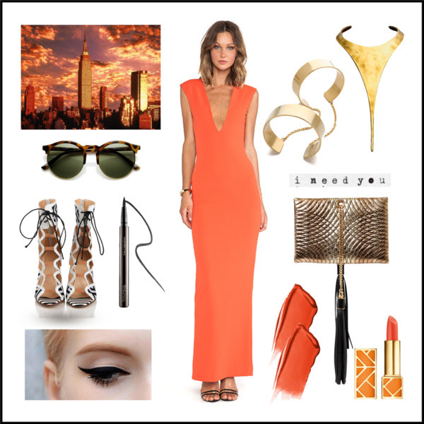 1. Dress by Solace London 2.Cuff by Vanessa Mooney 3. Necklace by  Robert Lee Morris. Find similar here 4. Clutch by Roberto Cavalli, find similar here 5. Shoes found here  6. Sunnies vintage inspired found here 7. Lipstick by Tory Burch 8. Eyeliner by hourglass.
