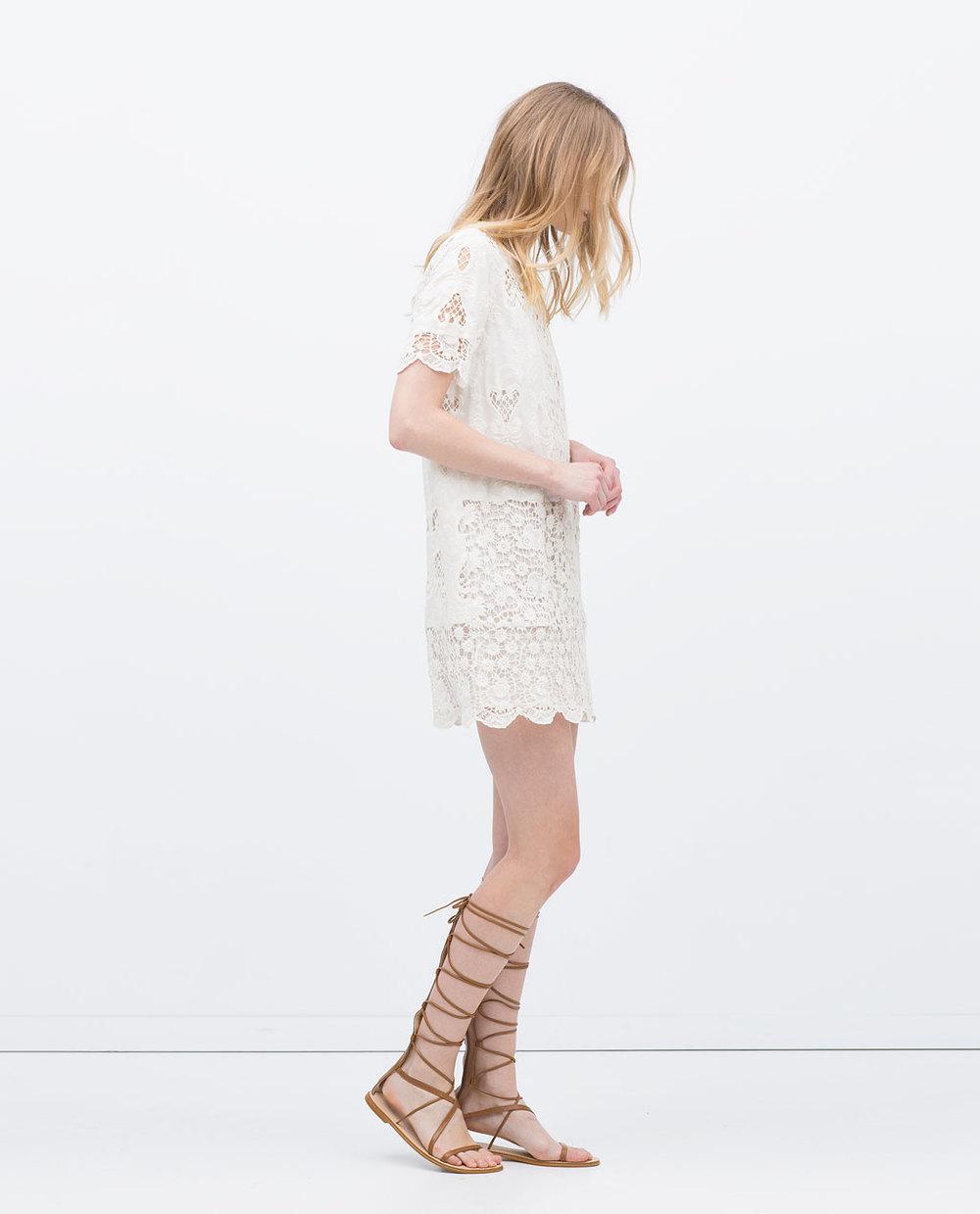 ZaraGuipure Lace Dress