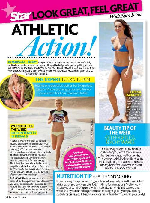 Had the pleasure of styling Nora Tobin for her columns in OK! Magazine and Star Magazine series, which launched this Fall. Pick up the magazine to see her tips and tricks for how to get a beach body all year 'round.