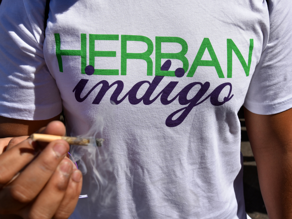 Puff, puff, pass it! There could not have been a better way to debut the inaugural Herban Indigo t-shirt than to post up at the Cannabis Cup and enjoy a finely rolled doobie with the crew. We have plenty apparel, stickers, and other goodies coming at you all soon.