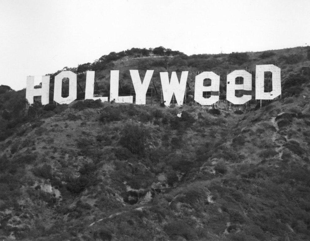 hollyweed hollywood sign marijuana prohibition propaganda