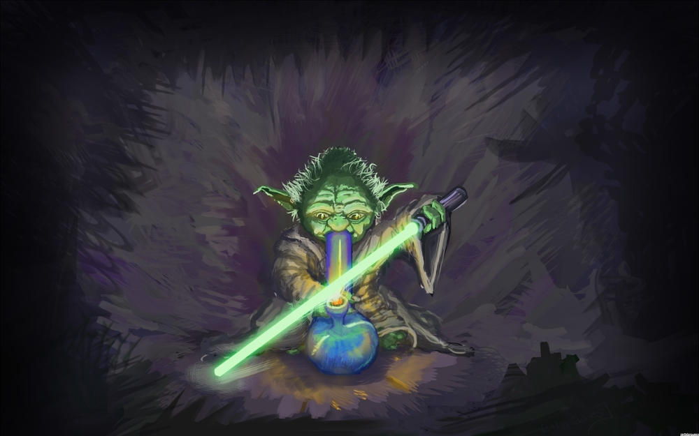 Yoda OG bong star wars light saber weed marijuana cannabis