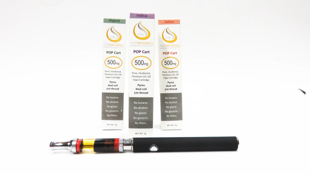 POP Naturals wax hash oil cartridge pen vape