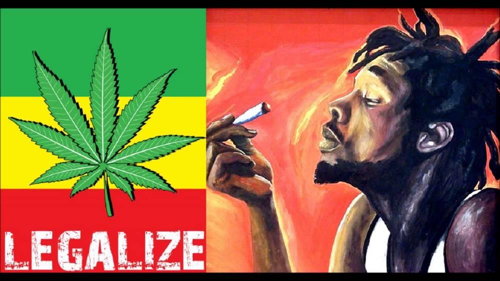 Legalize It Marijuana Rasta joint spliff AUMA