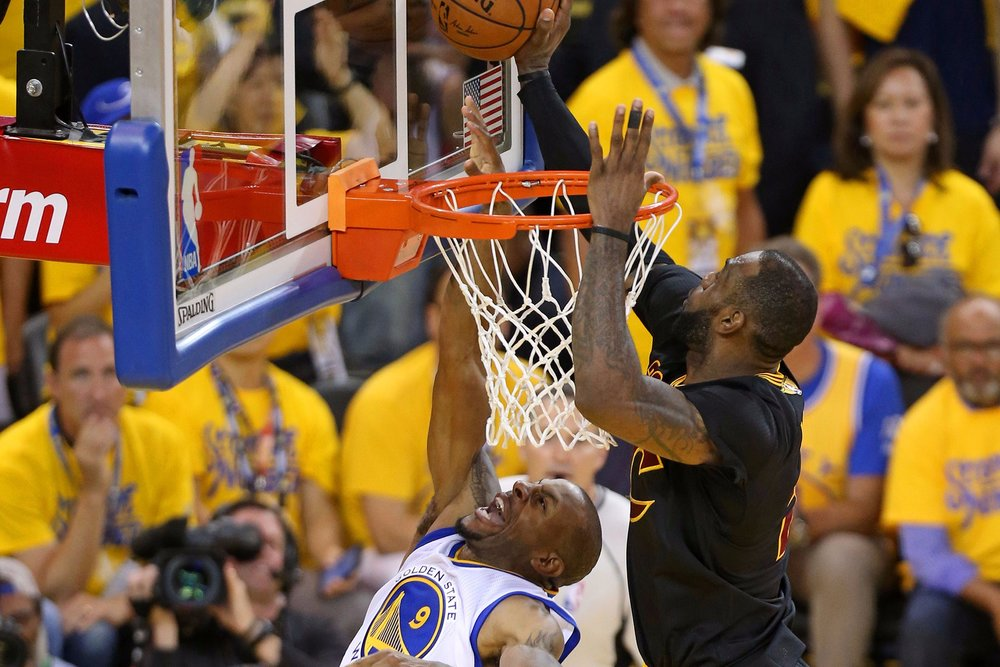 Lebron James Andre Iguodala block 2016 NBA Finals