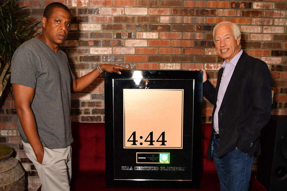 Jay Z platinum certified plaque 4:44 album