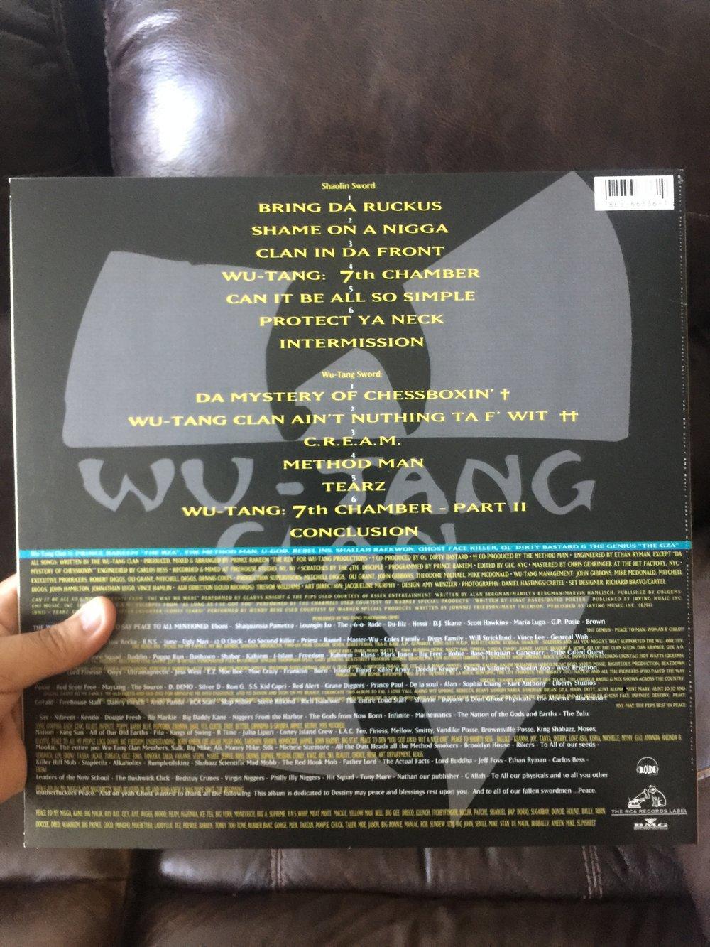 Wu Tang Clan Enter the Wu tang 36 Chambers