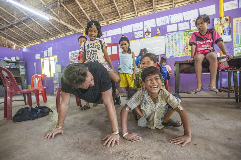 March 2016 - Koh Chang, Thailand - At the Cambodian Kids Care.