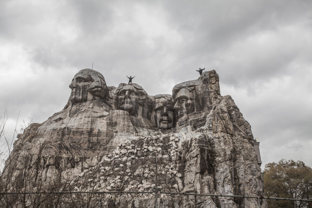 One for the newer attractions that came in 1995, a replica of Mount Rushmore.