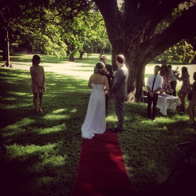 Huttley getting married yesterday the day was perfect!