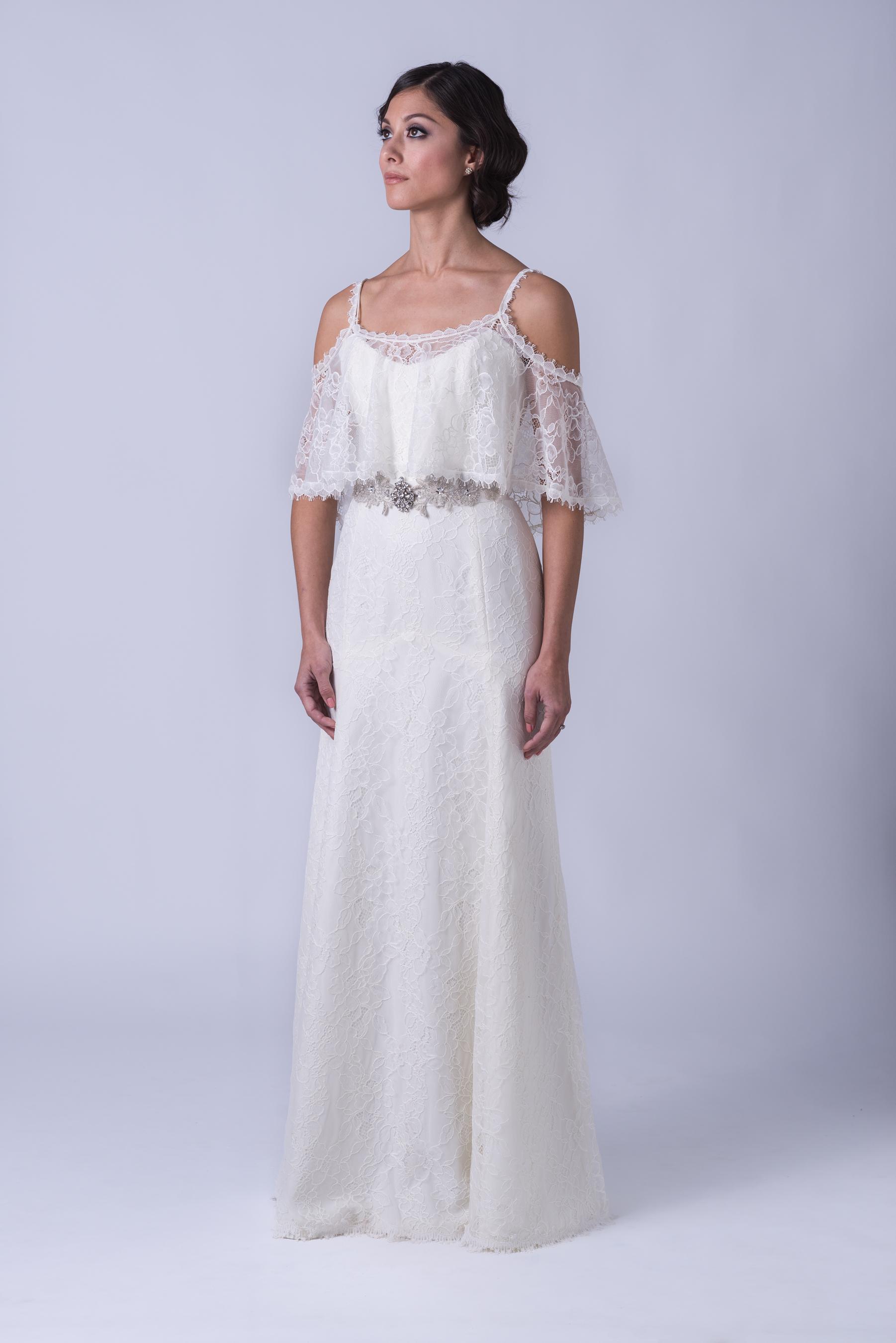 simple wedding dress collection cowl neck wedding dress 8