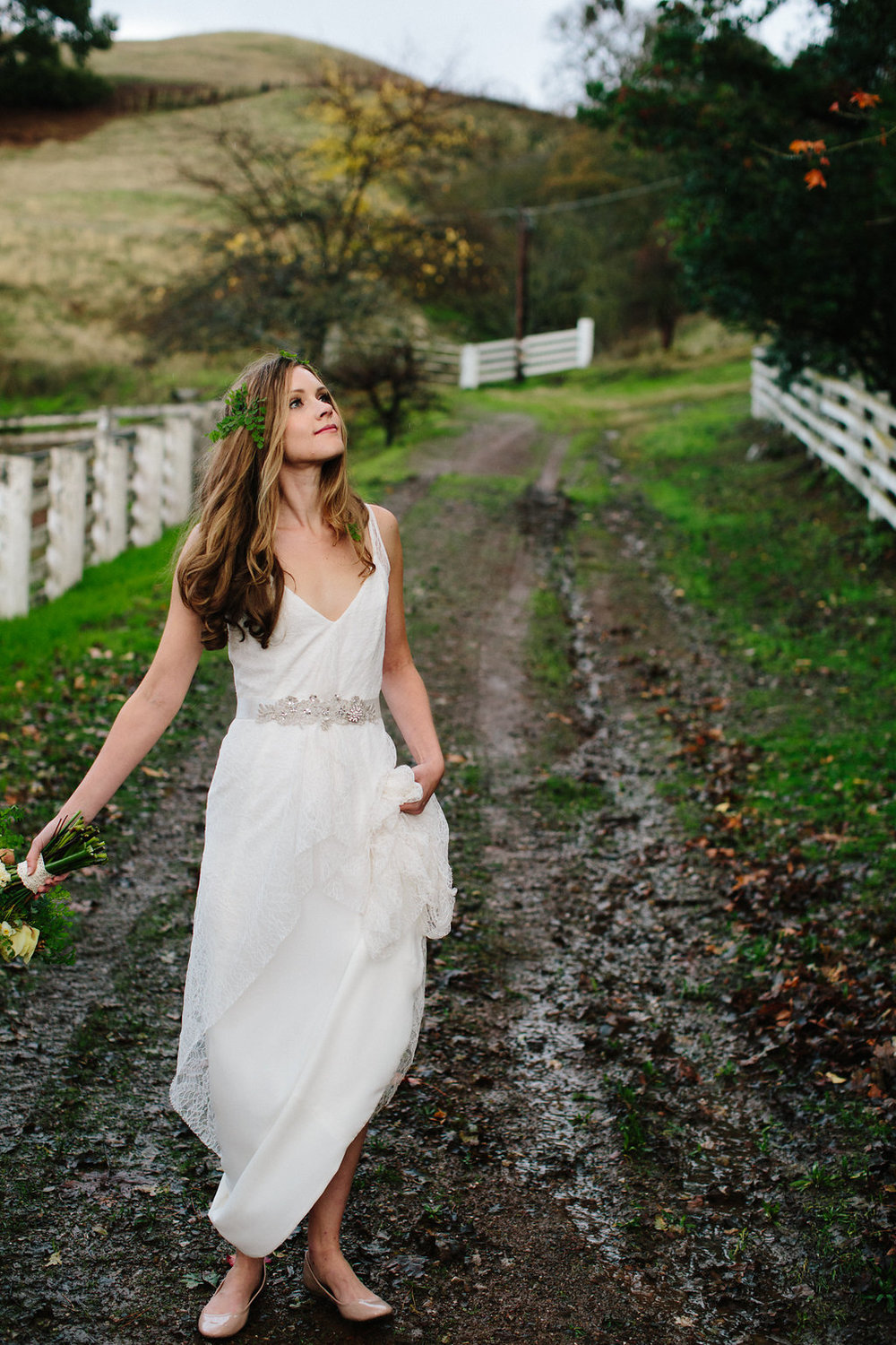 Zoe bohemian lace backless wedding dress trish lee for Wedding dresses in san francisco