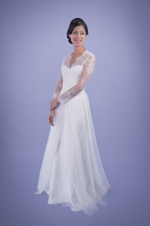 Vintage Cowl Neck Wedding Dress