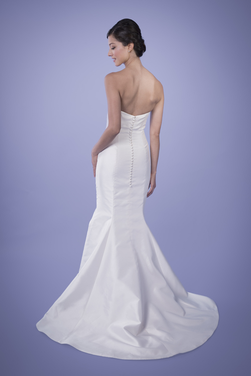 Angelina - Strapless Sweetheart Silk Trumpet Wedding Gown | Trish Lee