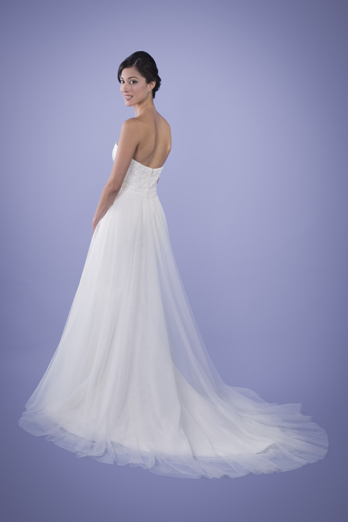 Giselle - Strapless Beaded Lace Wedding Gown With Detachable Skirt ...
