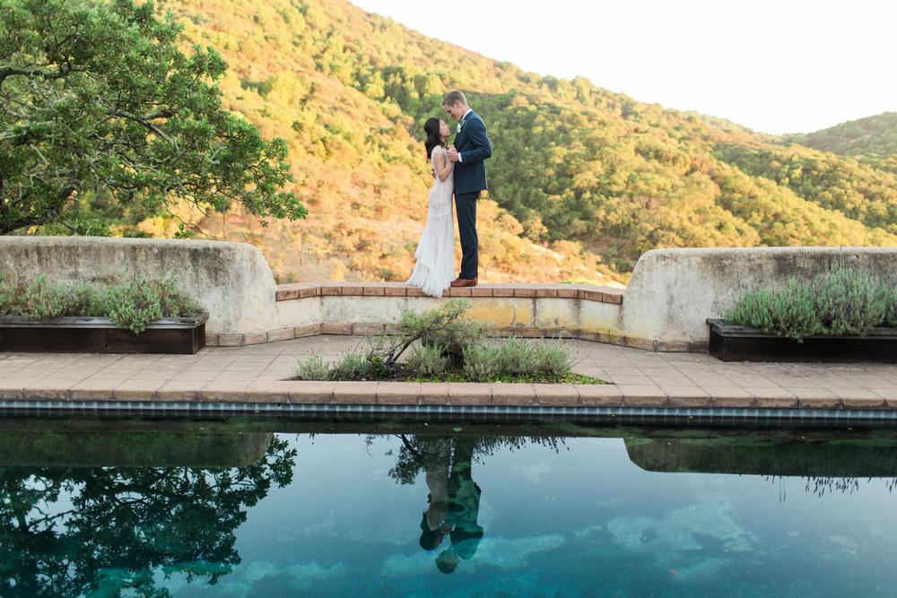 Trish and Adam wed in a private Napa estate. Photo: Krista Marie
