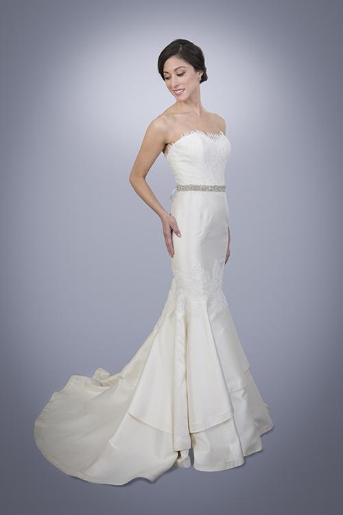 Silk Lace Wedding Dress