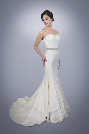 Rima - Strapless Sweetheart Lace and Silk Mermaid Wedding Gown ...